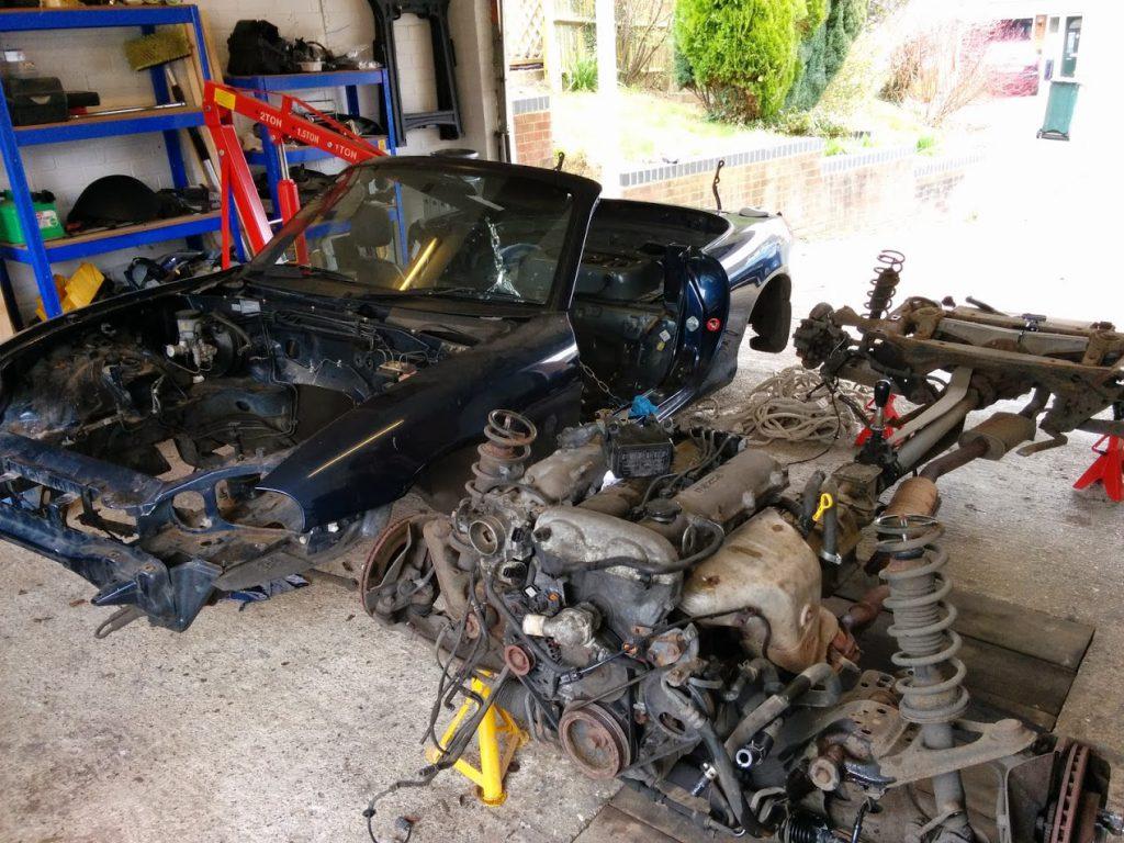 Mazda MX5 Miata Separated